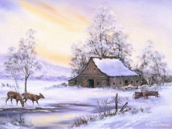 Paysages d'hiver ... 89dd3d10