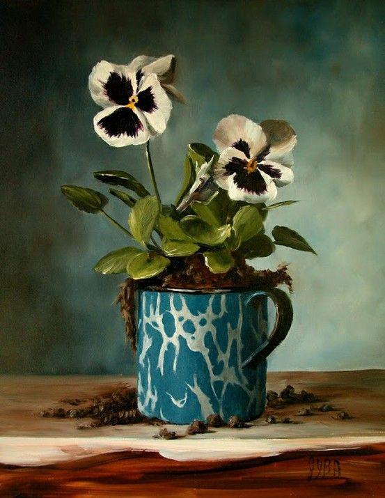 Bouquet dans un vase, une corbeille, une coupe, une poterie  - Page 2 8f197010