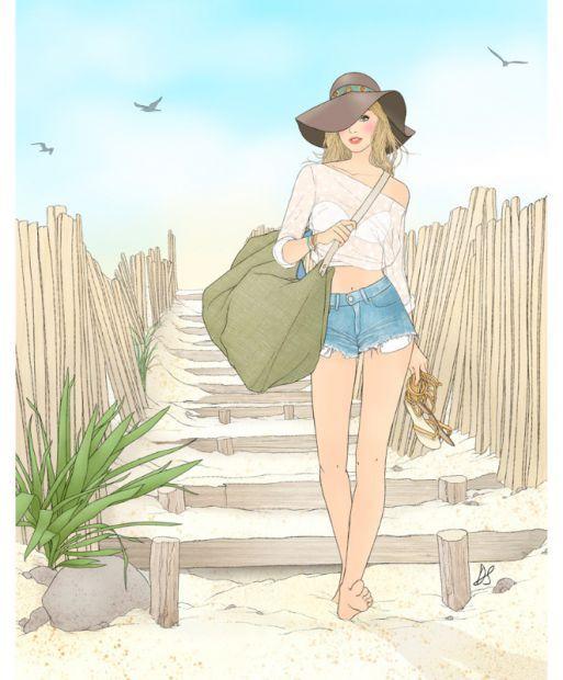 """Illustrations ... pour l'été ... Plage et """"farniente"""" ... 917acd10"""