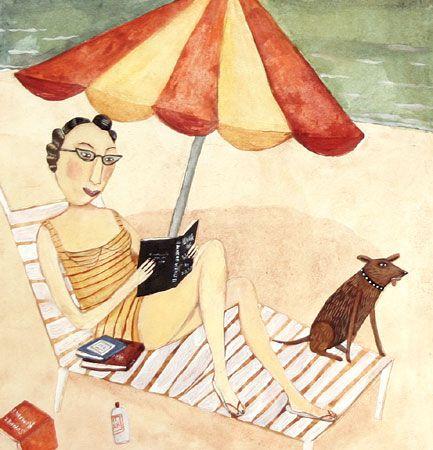"""Illustrations ... pour l'été ... Plage et """"farniente"""" ... A3c3af10"""