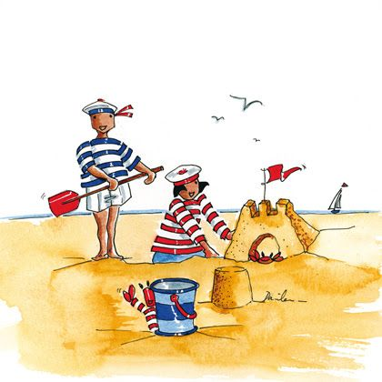 """Illustrations ... pour l'été ... Plage et """"farniente"""" ... Aa78e010"""