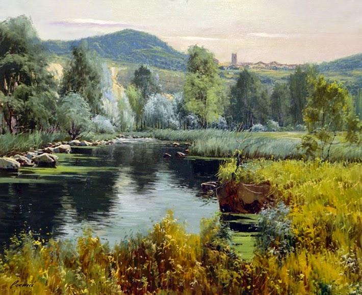 L'eau paisible des ruisseaux et petites rivières  Albert10