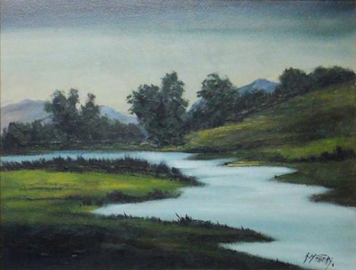 L'eau paisible des ruisseaux et petites rivières  Albert13