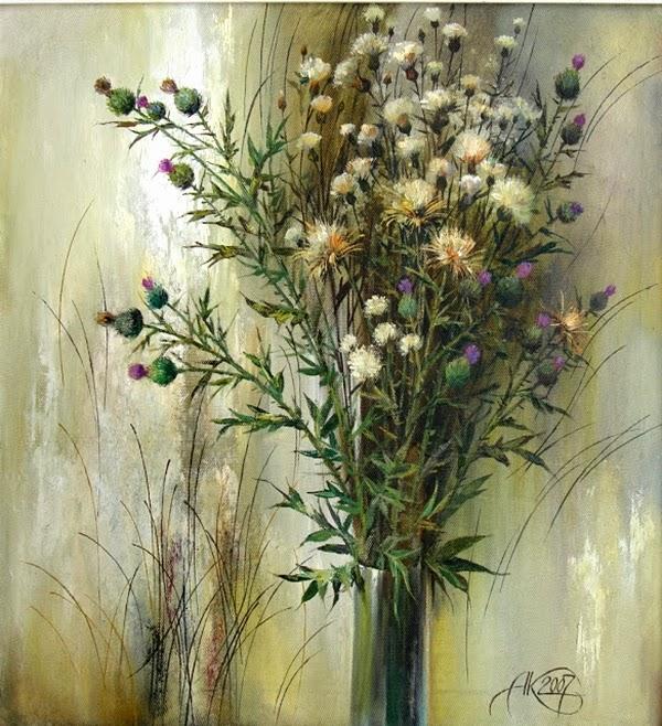 Bouquet dans un vase, une corbeille, une coupe, une poterie  - Page 2 Anatol10