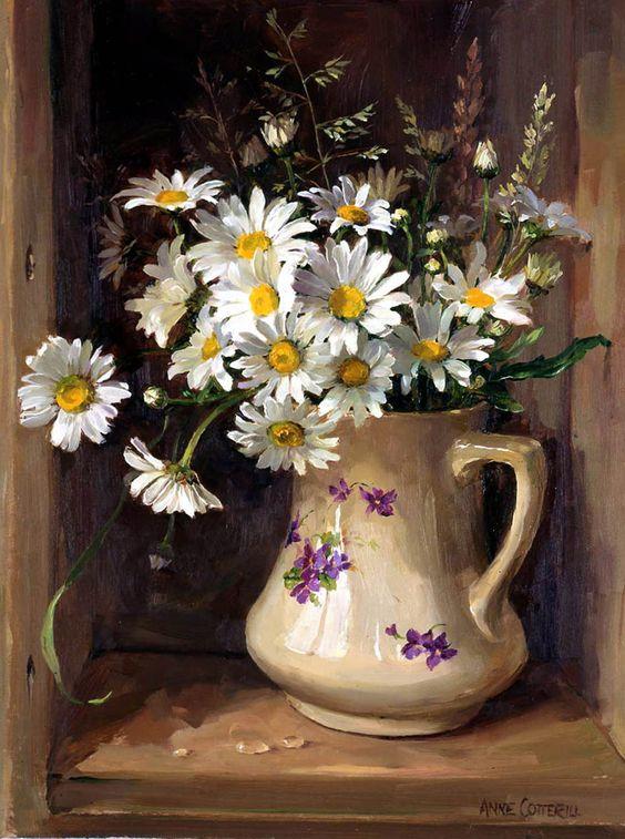 Bouquet dans un vase, une corbeille, une coupe, une poterie  B277e010