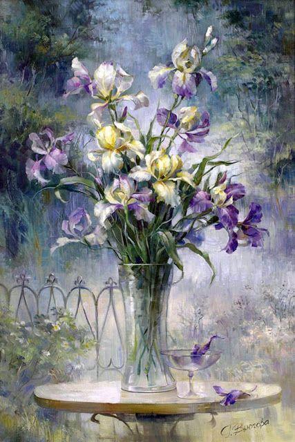 Bouquet dans un vase, une corbeille, une coupe, une poterie  - Page 2 C4cd4f10