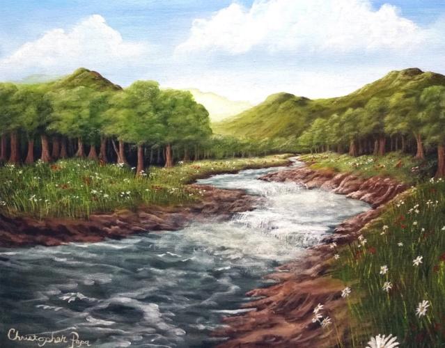 L'eau paisible des ruisseaux et petites rivières  Maxres10
