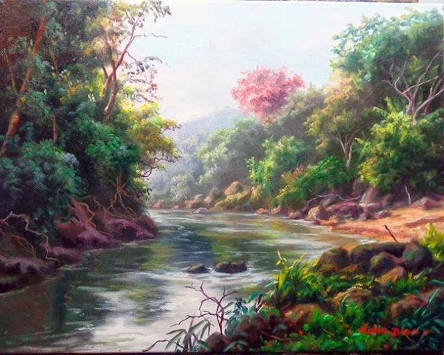 L'eau paisible des ruisseaux et petites rivières  P210