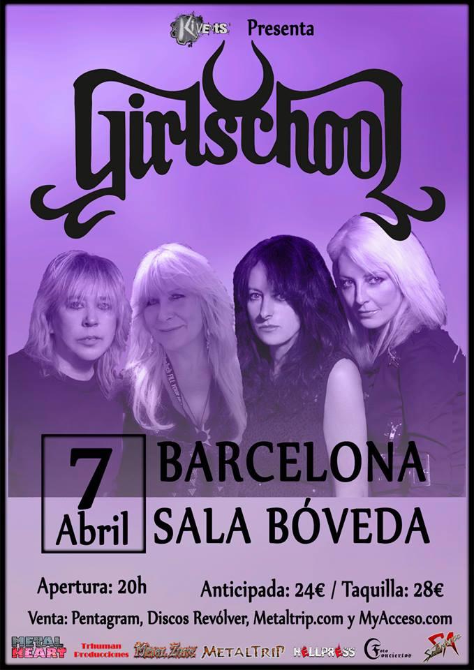 Girlschool en España 01380