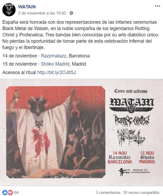Peste, Satán y Libertad. El tópic de Watain 0198