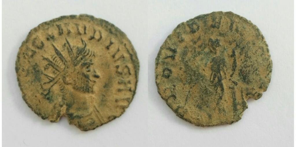 Antoniniano de Claudio II. PROVINDENT AVG. Providencia estante a izq. Roma. Img_2028