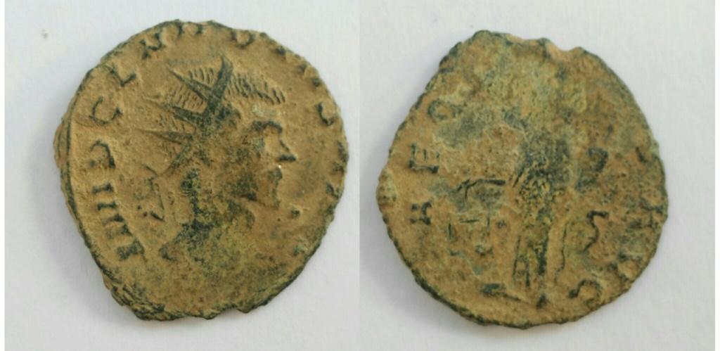 Antoniniano de Claudio II. AEQVITAS AVG. Aequitas estante a izq. Roma. Img_2029