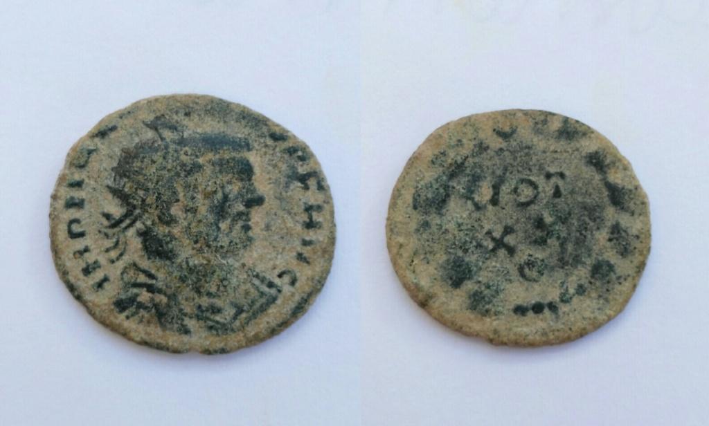 Radiado post-reforma de Maximiano. VOT / XX en dos líneas dentro de corona. Roma. Img_2036