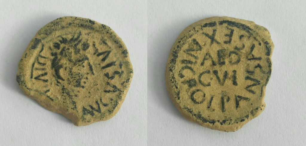 Cuadrante de Celsa, tiempos de Augusto. L PANSA SEX NIGRO; en el campo, AED / C V I. Img_2057