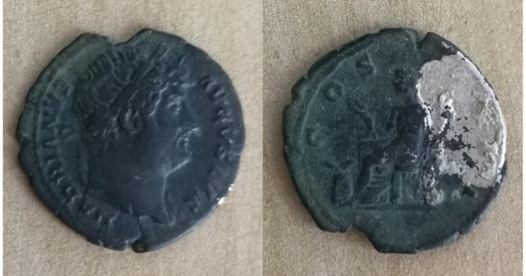 Denario de Adriano. COS III. Abundancia sentada a izq. Ceca de Roma. Img_2076