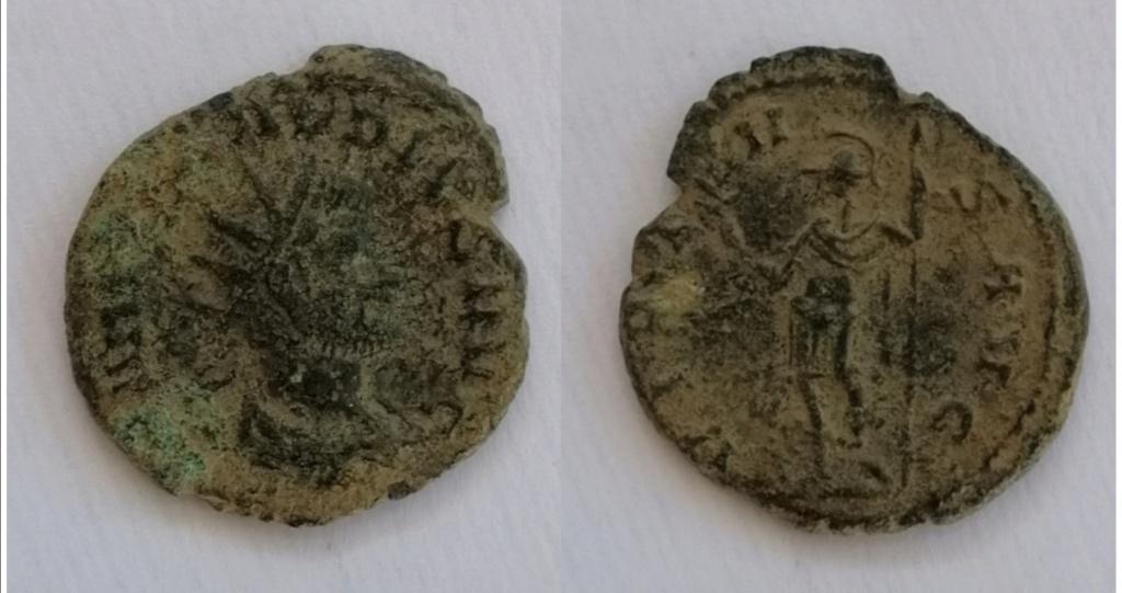 Antoniniano de Claudio II. VIRTVS AVG. Virtus estante a izq. Roma. Img_2085