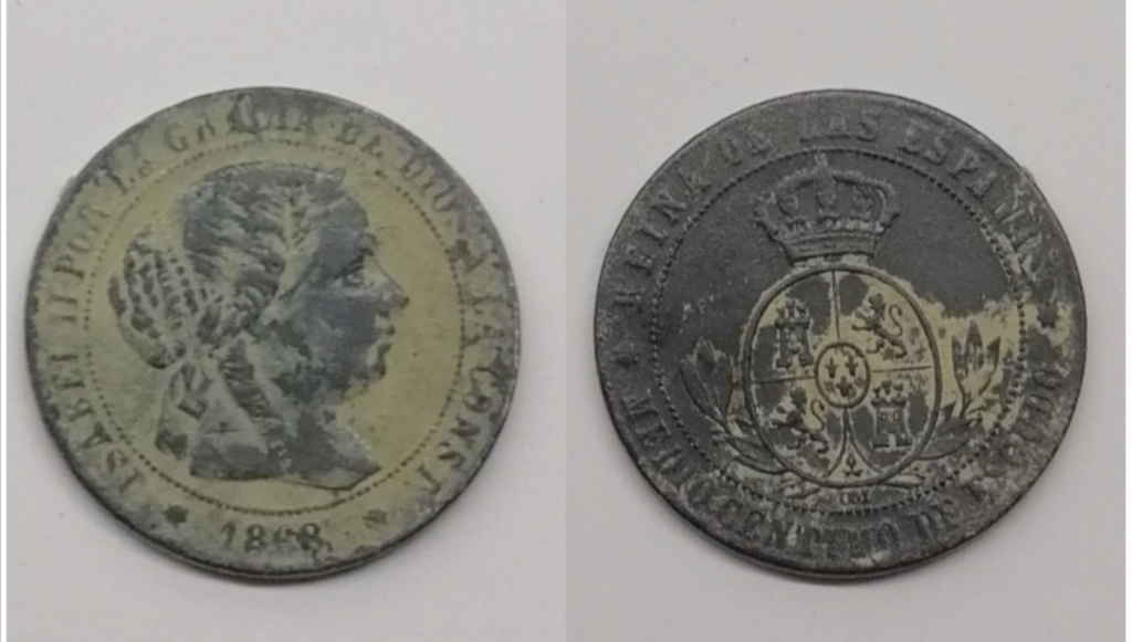 1/2 céntimo de escudo de 1868. Isabel II. Sevilla Img_2116
