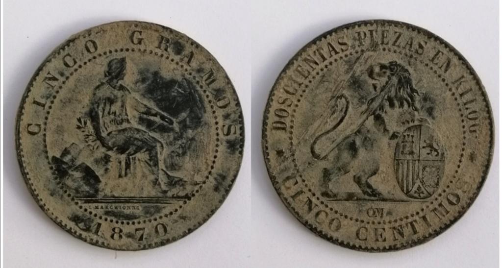 5 céntimos 1870. Gobierno Provisional. Perra chica Img_2118