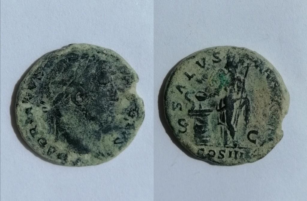 As de Adriano. SALVS AVGVSTI / COS III. Roma Img_2135
