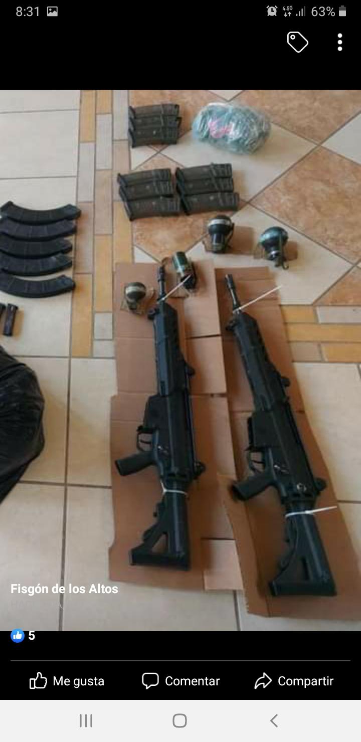 Incautan FX-05 y cargadores a grupo criminal en Teocaltiche Jalisco Screen11