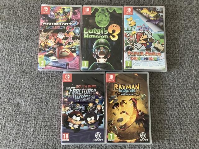 [Vds] Lot 5 jeux Swith Luigi 3 / Paper Mario / Mario Kart 8 ... Img_9210