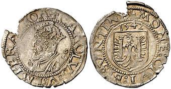 1 carlos. 1542. Carlos I. Besançon Carlos10