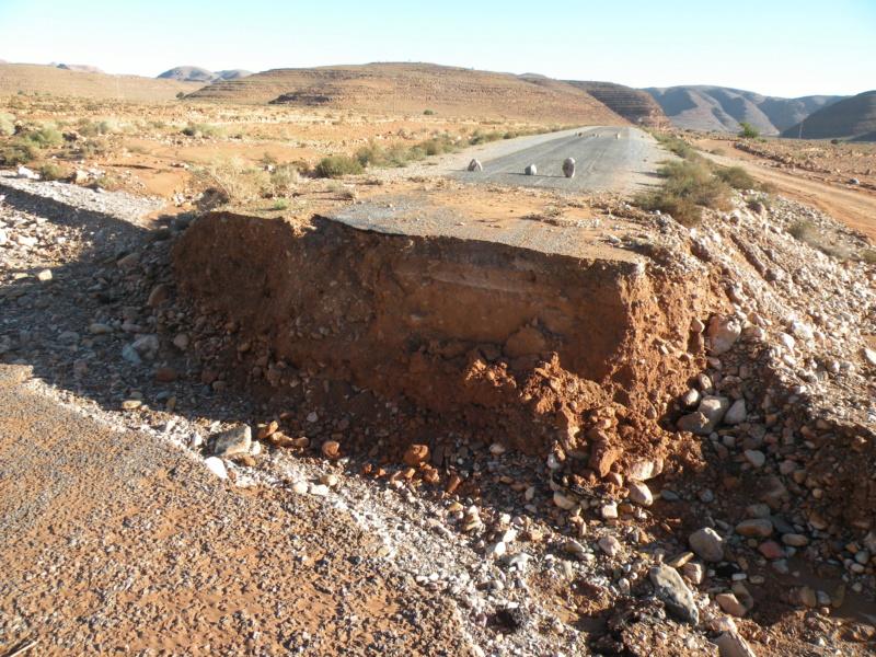 [Carburant, Routes, Police] Inondation à Zagora et routes coupées 54_rte10