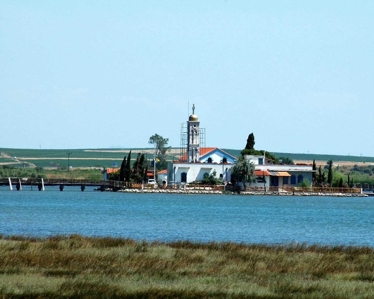 Άγιος Νικόλας - μετόχι Μονής Βατοπεδίου στην Βιστωνίδα λίμνη (Πορτό Λάγος-Ξάνθη) Lagos010