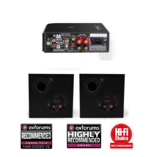 NAD D3020 V2 + Monitor Audio Monitor 50 Hi-Fi System Package Es_257