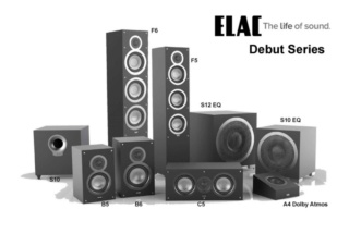 "Elac Debut S12EQ 12"" 1000W Powered Subwoofer Es_514"