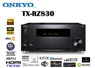 Onkyo TX-RZ830 9.2Ch Atmos Network AV Receiver Es_623