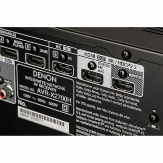 Denon AVR-X2700H 7.2Ch 8K Atmos Network AV Receiver (Opened Box New) Es_650