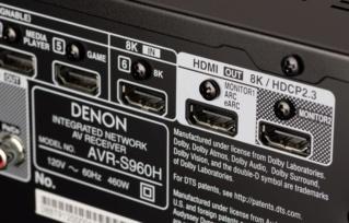 Denon AVR-S960H 7.2Ch 8K Atmos Network AV Receiver (Opened Box New) Es_733