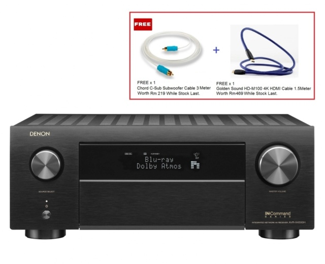 Denon AVR-X4500H 9.2Ch Atmos Network AV Receiver Es_den36