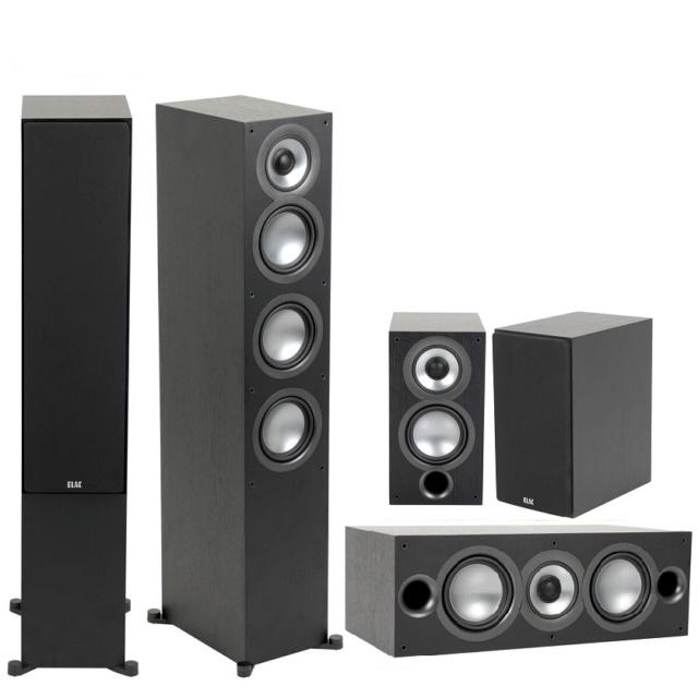 ELAC Uni-Fi 2.0 UF52 + Uni-Fi 2.0 UC52 + Uni-Fi 2.0 UB52 Speaker Package Es_el118