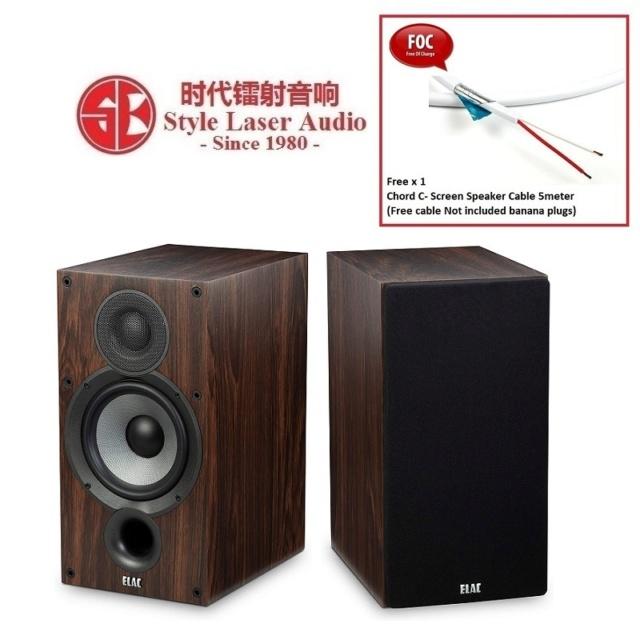 ELAC Debut 2.0 B6.2 Bookshelf Speaker (Walnut) Es_ela99