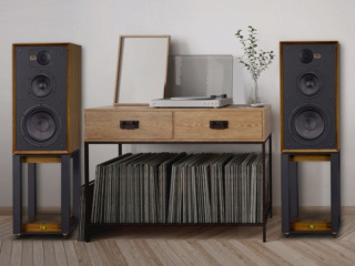 Wharfedale Linton 85th Anniversary Bookshelf Speakers with Stands Es_es_17