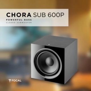 """Focal Chora Sub 600P 12"""" Powered Subwoofer Es_foc29"""