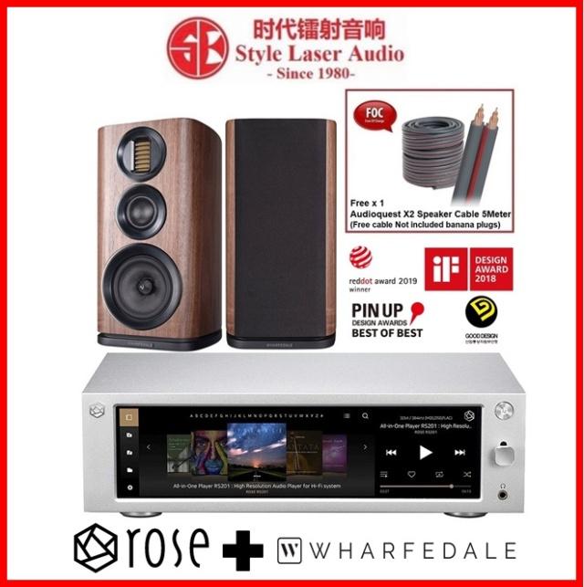Hifi ROSE RS201E + Wharfedale EVO 4.2 Hi-Fi System Package Es_hif13