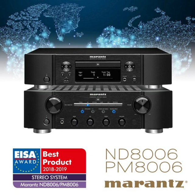 Marantz PM8006 Integrated Amplifier & ND8006 Network Music /CD Player Made In Japan Es_ma107
