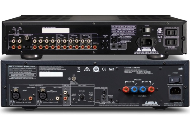 NAD C 165BEE + NAD C 298 Pre and Power Amplifier Package Es_nad44