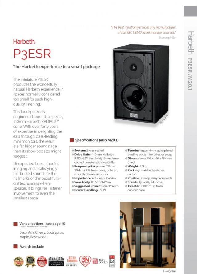 Harbeth P3ESR Bookshelf Speakers Handmade In England Es_p3-10