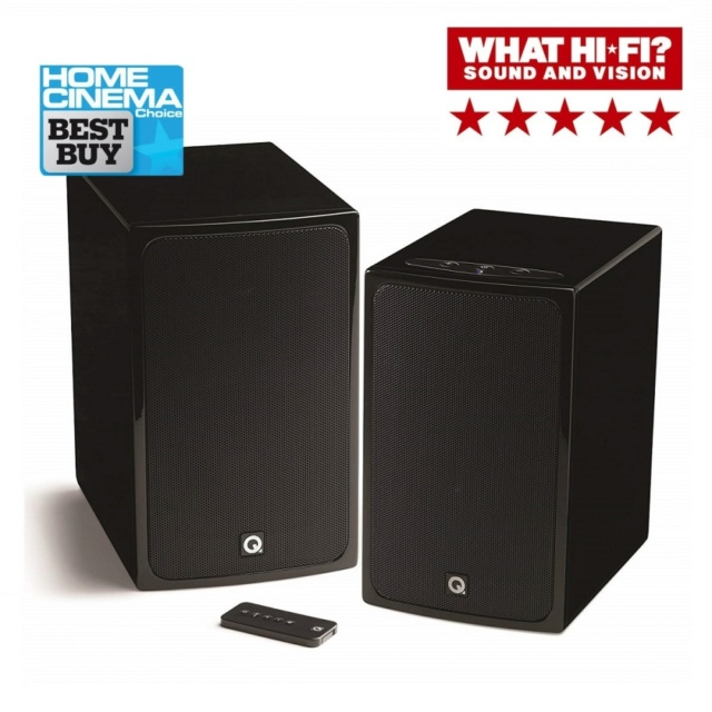 Q Acoustics BT3 Wireless Active Bookshelf Speakers Es_q-a21