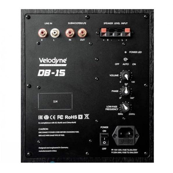 "Velodyne DB15 15"" Sealed Box Powered Subwoofer Es_vel14"