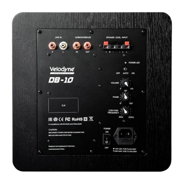 "Velodyne DB10 10"" Sealed Box Powered Subwoofer Es_vel23"