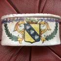 French Faience armorial trinket pot with an F mark? Img_4417