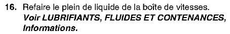 Niveau D'huile de Boite de Vitesse Automatique pour modèle à partir de l'AM 99 Bva110