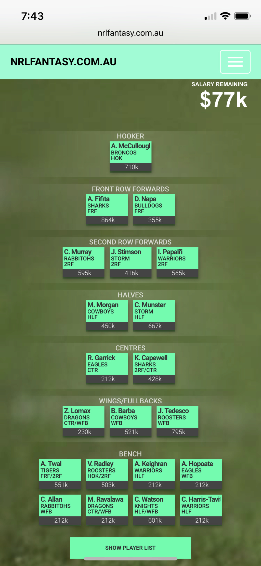 Rate My Team 2019 - Page 4 2e1efd10
