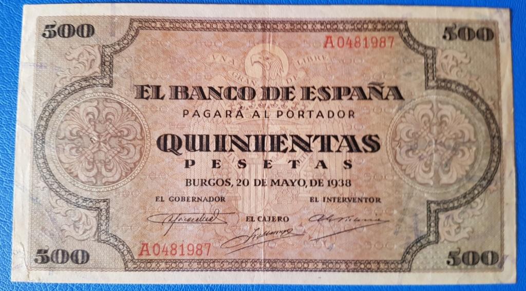 Duda entre 2 billetes para avatar - 500 pesetas 1938 20190112