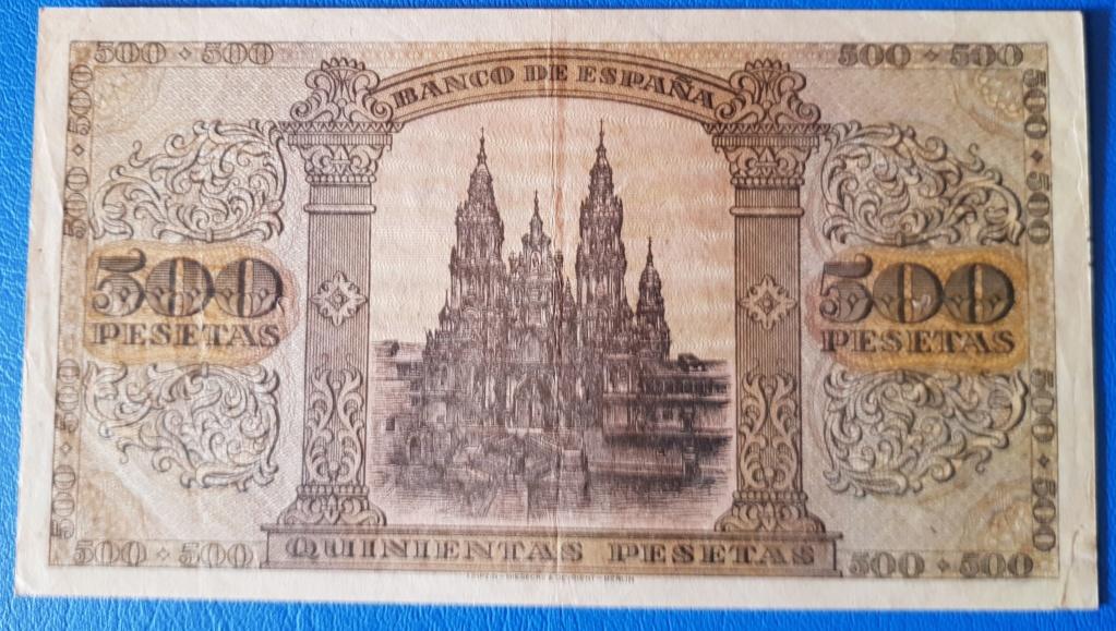 Duda entre 2 billetes para avatar - 500 pesetas 1938 20190113